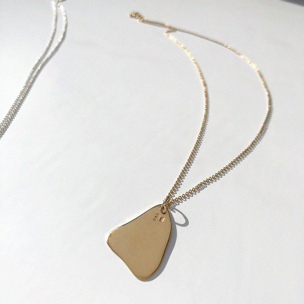 Load image into Gallery viewer, BAR Jewellery Sustainable Flux Necklace In Gold, Back View