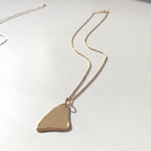 BAR Jewellery Sustainable Flux Necklace In Gold