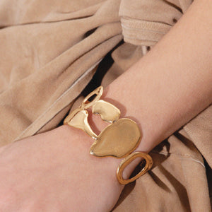BAR Jewellery Sustainable Link Bracelet In Gold