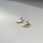 BAR Jewellery Sustainable Luna Stud Earrings In Gold