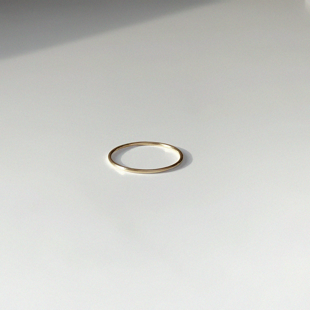 BAR Jewellery Sustainable O Ring In Gold