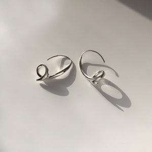 BAR Jewellery Sustainable Phi Earrings In Silver Drop Style