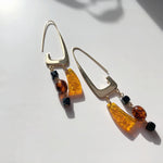 BAR Jewellery Sustainable Rise Earrings In Gold With Coloured Resin