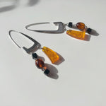 BAR Jewellery Sustainable Rise Earrings In Silver With Coloured Resin