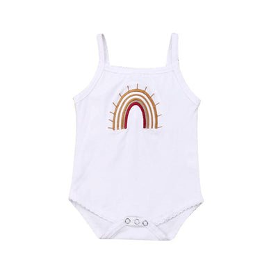 0-24M Vintage Rainbow Bodysuit  White - Tots Little Closet