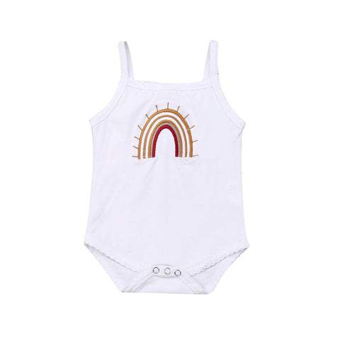 0-24M Vintage Rainbow Bodysuit  White freeshipping - Tots Little Closet