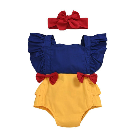 Snow White Flutter Romper 0-24M - Tots Little Closet
