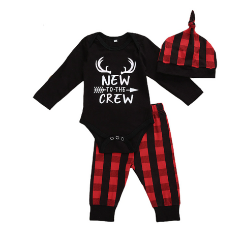 New To The Crew Plaid Set freeshipping - Tots Little Closet