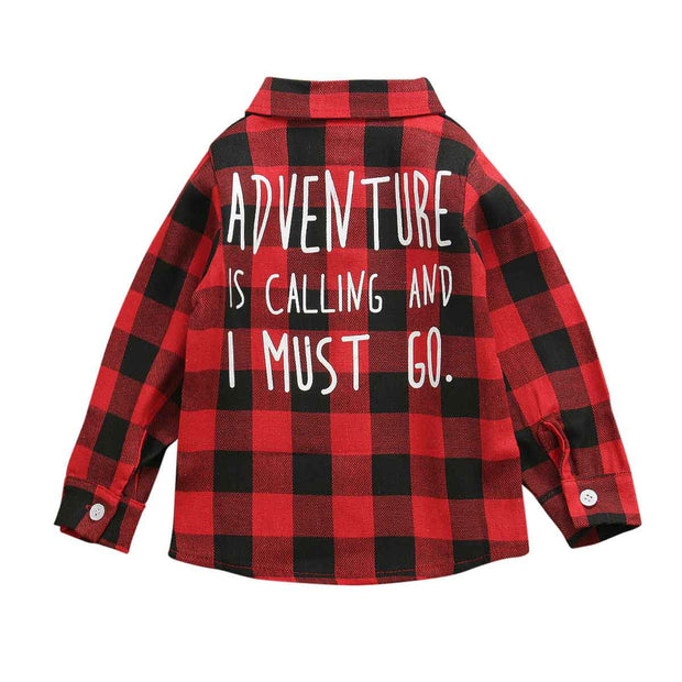 Ryder Red Flanno - Tots Little Closet