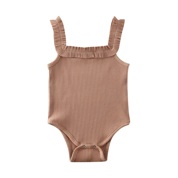 Basic Ribbed Bodysuit Khaki