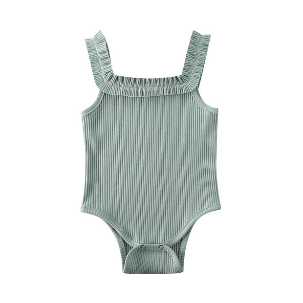 Basic Ribbed Bodysuit Green