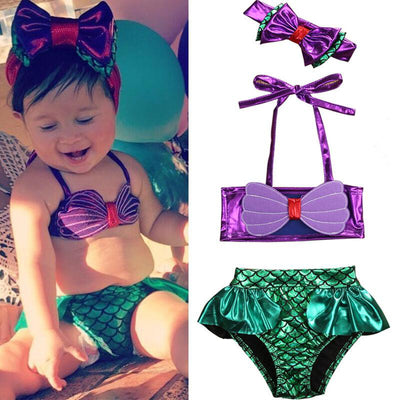 Ariel Mermaid Inspired Baby Bikini