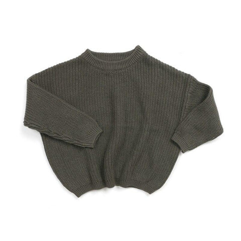 Boys Knitted Pullover Sweater Green - Tots Little Closet