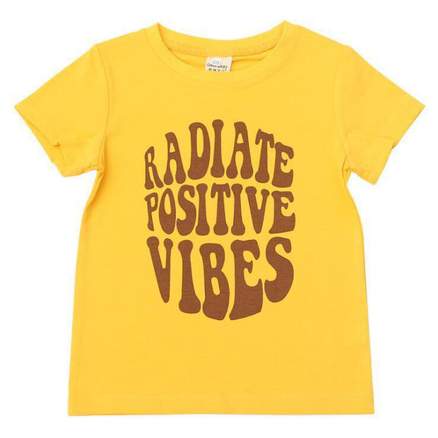 Radiate Positive Vibes Boys Summer Surf Wear T-shirts