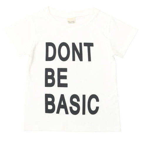 Don't Be Basic Boys Summer Surf Wear T-shirts freeshipping - Tots Little Closet