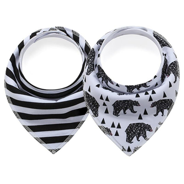 Cotton Baby Bandana Bibs 2pcs - Tots Little Closet