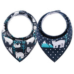 Cotton Baby Bandana Bibs 2pcs freeshipping - Tots Little Closet