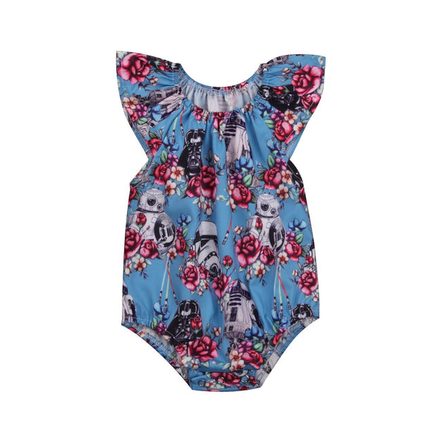 Baby Girls Star Wars Flower Romper