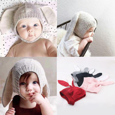 Baby Rabbit Ears Beanie - Tots Little Closet