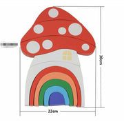 Rainbow Mushroom House Block Set