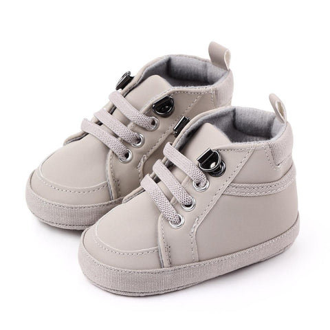 Boys Moccasin Shoes Grey freeshipping - Tots Little Closet