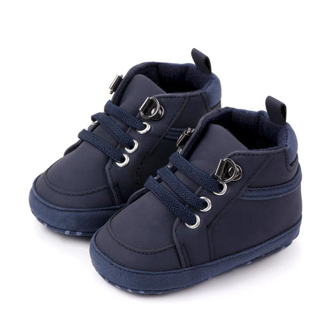 Boys Moccasin Shoes Dark blue freeshipping - Tots Little Closet