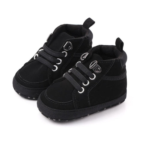 Boys Moccasin Shoes Black freeshipping - Tots Little Closet