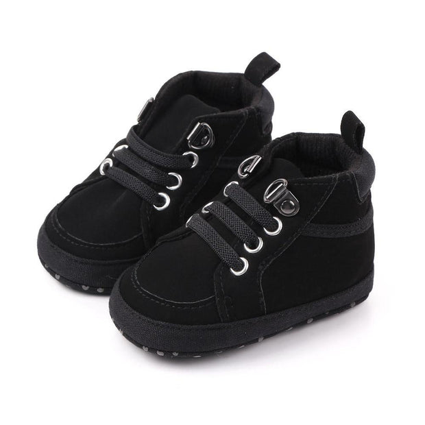 Boys Moccasin Shoes Black