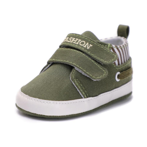 Boys Moccasin Shoes Green - Tots Little Closet