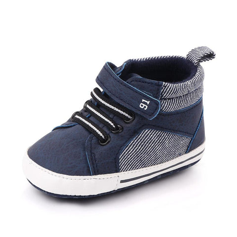 Boys Moccasin Shoes Blue freeshipping - Tots Little Closet
