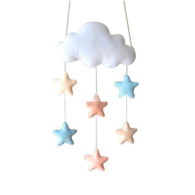 Felt Cloud Baby Mobile Nursery Stars