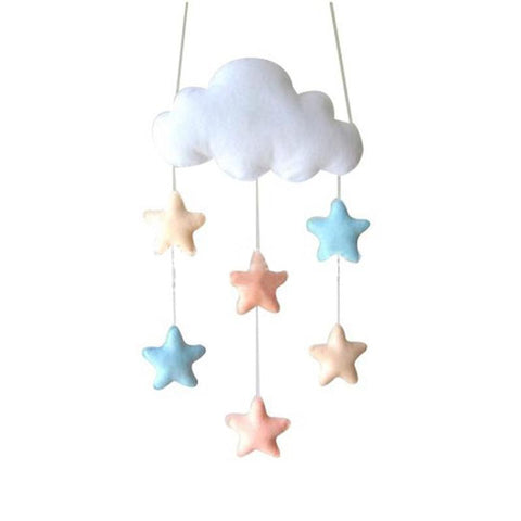Felt Cloud Baby Mobile Nursery Stars - Tots Little Closet