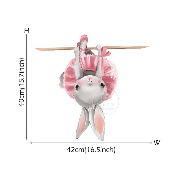 Bella Bunny Upside Down Collections Removeable Wall Sticker bunny 03 - Tots Little Closet