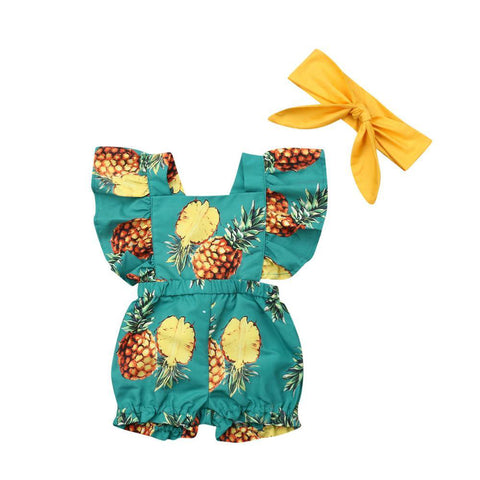 Pineapple Flutter Suit freeshipping - Tots Little Closet