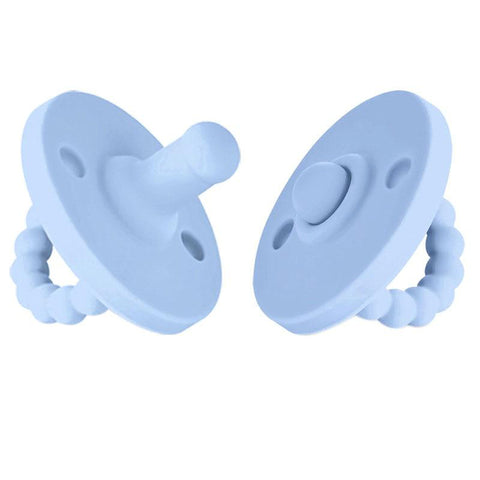 Food Grade Silicone Baby Dummy  Blue - Tots Little Closet