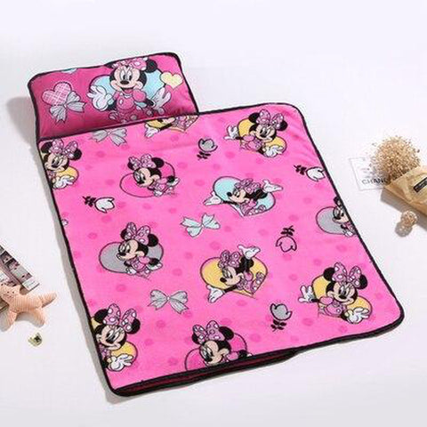 Pink Minnie Mouse Kids Nap Mat with Blanket - Tots Little Closet