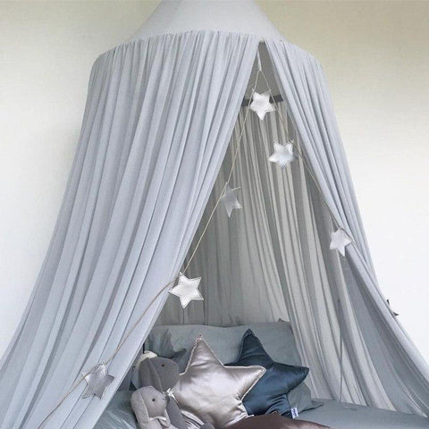 Gray Dome Canopy Nursery Mosquito Net - Tots Little Closet