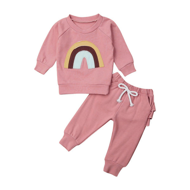 Rainbow Tracksuit Set 6 Months - 3 Years - Tots Little Closet