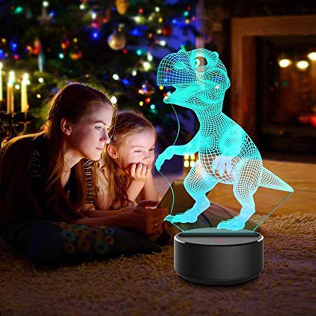 3D Dinosaur LED Lamp 7 Colours - Tots Little Closet