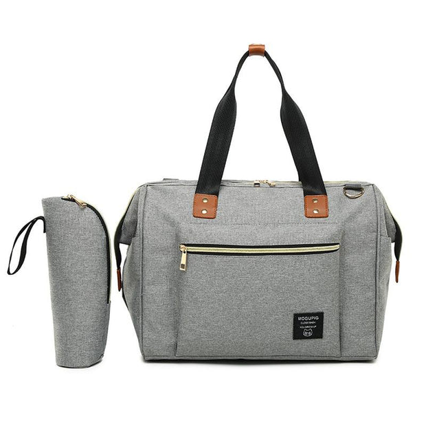 Mogupig Nappy Bag Set Light gray - Tots Little Closet
