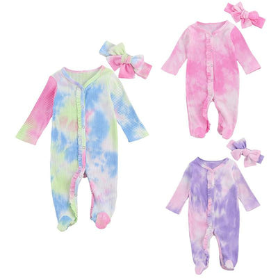 Tie Dye Ribbed Newborn Set