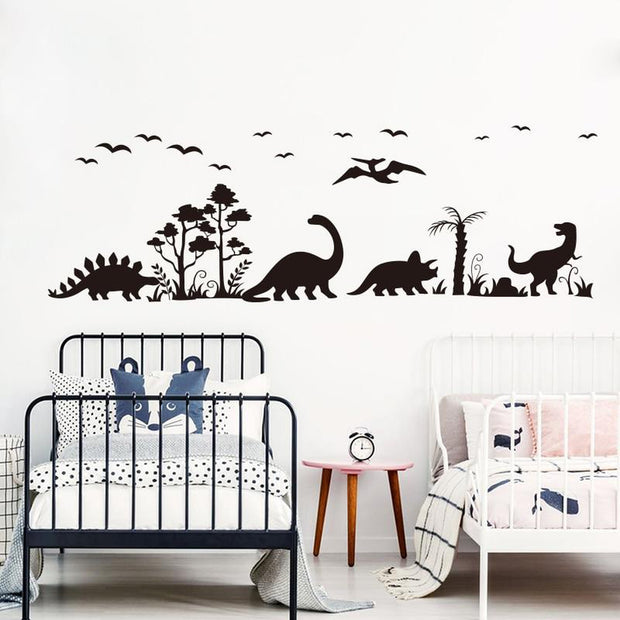 Dinosaur Silhouette Wall Decal Sticker - Tots Little Closet