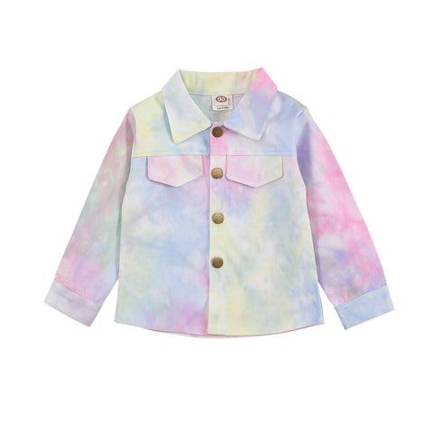 Acacia Tie Dye Long Sleeve Button Jacket freeshipping - Tots Little Closet