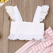 Baby Girl Ruffle Crop & Candy Stripe Pants