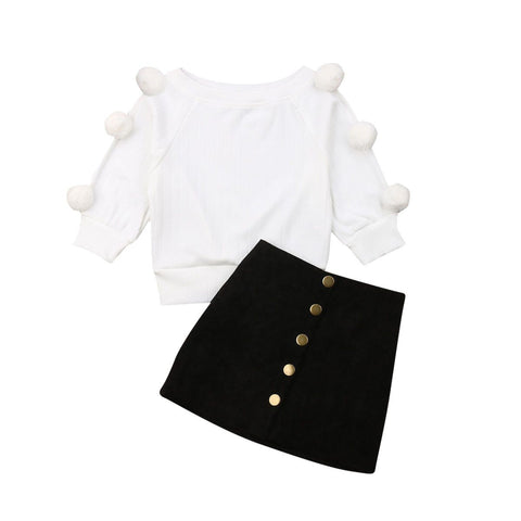 Olivia Pom Pom Set freeshipping - Tots Little Closet