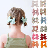 New 2Pcs Teens Big Hair Bows Knot Hair Clips Girls Infant Toddler Headband Sets|Hair Accessories - Tots Little Closet