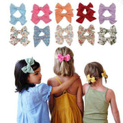 New 2Pcs Teens Big Hair Bows Knot Hair Clips Girls Infant Toddler Headband Sets|Hair Accessories