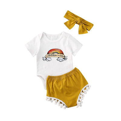 Rainbow After The Storm Sunsuit 3 pcs Set