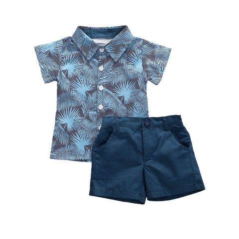 Palm Shirt & Pants freeshipping - Tots Little Closet