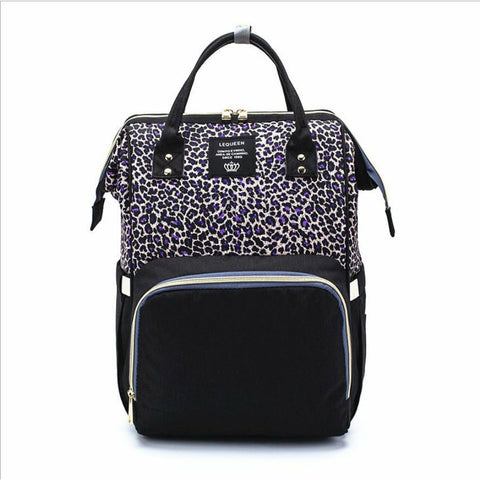 Leopard Print Backpack Nappy Diaper Bag freeshipping - Tots Little Closet